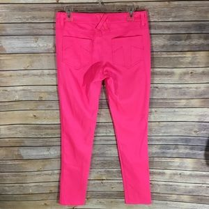 Tripp hot pink skinny trousers size 7